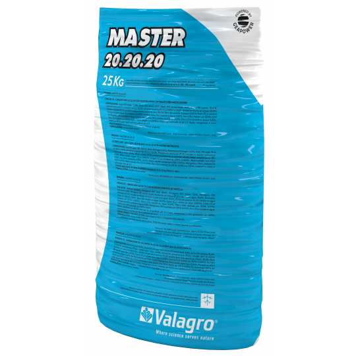 Комплексное удобрение МАСТЕР (MASTER) 20.20.20 Valagro 25 кг