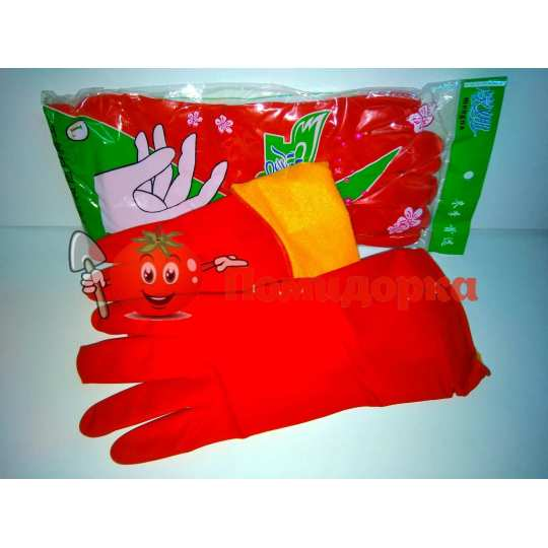 Перчатки резиновые утеплённые Китай р. S.M.L