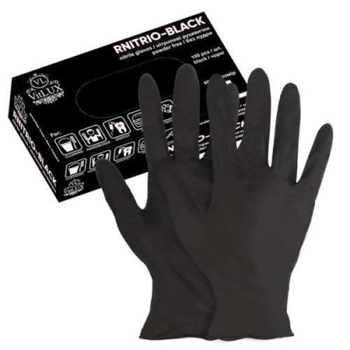 Перчатки нитриловые RNITRIO-BLACK р.S 1 пара
