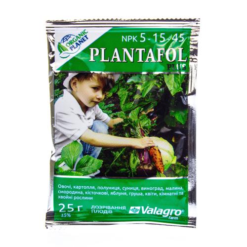 Комплексное удобрение ПЛАНТАФОЛ (PLANTAFOL) NPK 5.15.45. (Созревание плодов) Organic planet