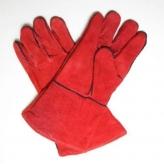 Перчатки КРАГИ сварщика INTERTOOL р.14 (красные)