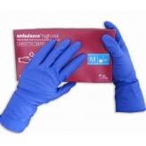 Перчатки латексные Ambulang PF синие р.S.M.L.XL - 1 пара