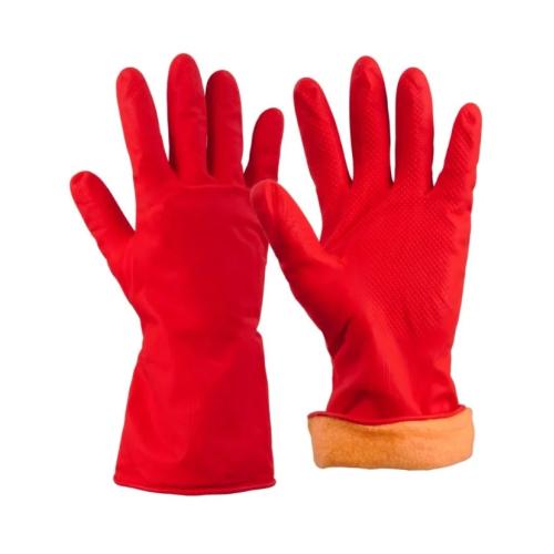 Перчатки резиновые утеплённые Китай р. L