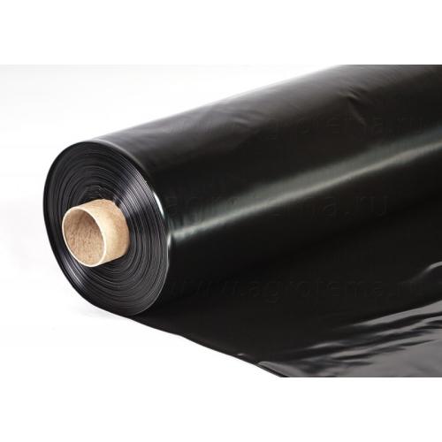 Пленка полиэтиленовая черная для мульчирования почвы Пластмодерн 1500мм-80-мкм-50 м.